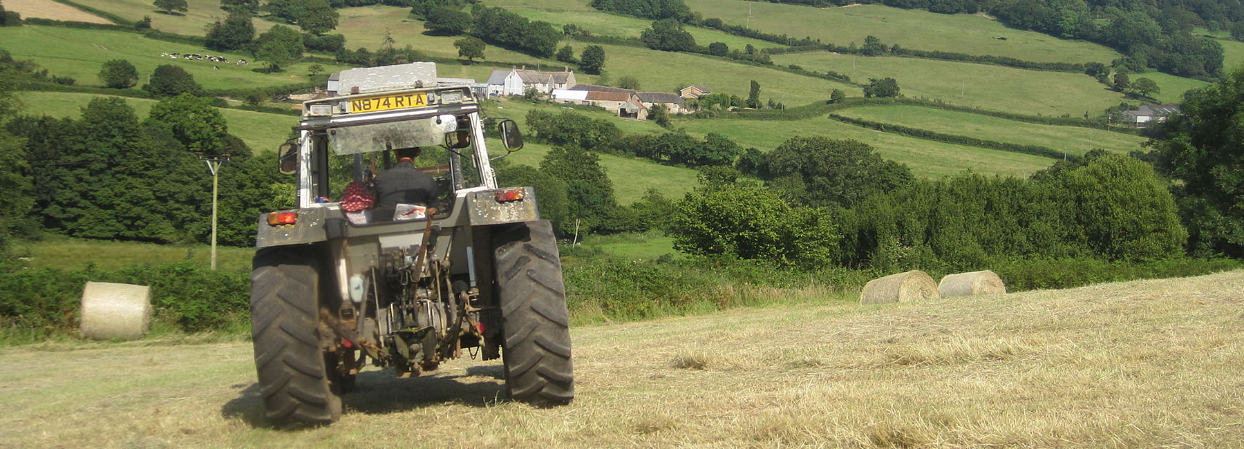 Tractor Making Hay
